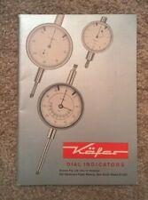 Vintage Kafer Dial Indicator Catalogue