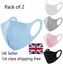 2 Pack lot Face Mask UK Reusable | Washable | Breathable Protective Masks UK