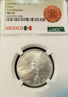 2019 MEXICO SILVER LIBERTAD 1/4 ONZA NGC MS 70 PERFECTION EARLY RELEASES !