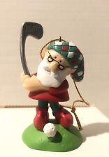 Christmas Santa Playing Golf Ornament Plastic D26