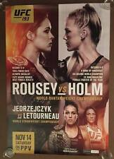 Official UFC 193 - Ronda Rousey vs Holly Holm Poster 27x39 (Near Mint)