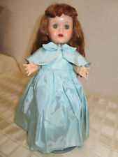 Beautiful Ideal Saucy Walker Doll with Crier Aqua Gown 16""