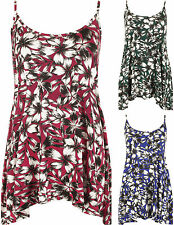 Viscose Floral Plus Size Sleeveless Tops & Shirts for Women