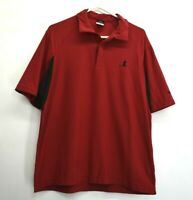Nike Men's Large Dri-Fit UV Short Sleeve St.Judes Branded Polo Shirt Red