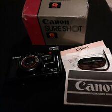 Canon Sure Shot AF35M 35mm Film Camera /w 38mm f/2.8 Prime Lens + box&manual