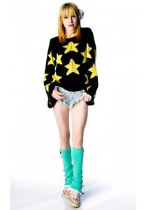WILDFOX COUTURE STARRY EYED FAVORITE SWEATER <BLACK M>
