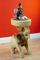 Side Table Elephant Wooden Table Solid Wood Flower Stand Elephant Africa Podium