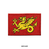 WESSEX County Flag  Embroidered Patch Iron on Sew On Badge For Clothes Etc