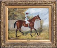 "Large 19th Century Horse ""Melton"" & Jockey Fred by Archer John Alfred WHEELER"