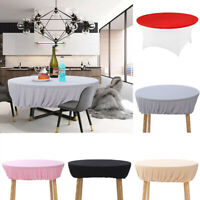 120cm Fitted Round Elastic Edge Table Cover Wedding Party Banquets Tablecloth U