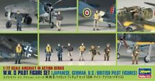 WW II BRITISH/U.S., GERMAN & JAPANESE PILOT FIGURES #35008 1/72 HASEGAWA