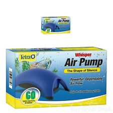 Aquarium Whisper Air Pump Water Fish Tank Accessories Fits 40-60 Gallon-Powerful
