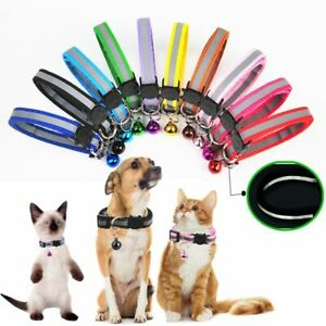 Reflective Collar for Pet Adjustable with bell and Quick-release Safety buckle.