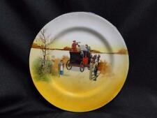 "Royal Doulton Coaching Days, Mail Coach & Bugler: Bread Plate, 6 7/8"", 8a"