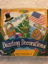 Dazzling Decorations, Crayola, Cd Rom, Ages 5 To 10, Holiday Decorations 2003
