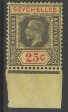 SEYCHELLES SG114 1925 25c BLACK & RED/PALE YELLOW FINE USED