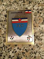 SCUDETTO JUGOSLAVIA N. 267 album CALCIATORI ITALIA 90 PANINI NUOVA CON VELINA