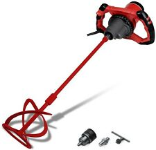 Grout Thinset Electric Mixing Drill Power Tool 2 Speed Changeable Paddle Red New