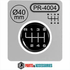 Pomello del cambio Leva del cambio Modello Adesivo 3d A CUPOLA Bastone UNIVERSALE BADGE 6 velocità 40