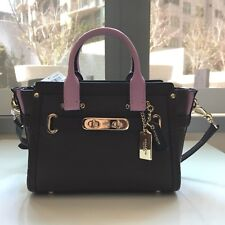 NWT Coach Swagger 20 Colorblock Pebbled Leather OxBlood Crossbody Satchel 35954