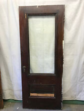 Full Beveled Glass Salvaged Front Wood Door Architectural Vintage 32x80
