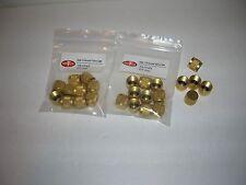 "Brass Access Valve Caps-1/4"" w/Rubber O-Ring-(25) - Standard AC Systems- GemTech"