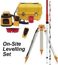 Spot-On Rotatif Laser Niveau 300-on-site Set avec récepteur à distance,, Trépied & Staff