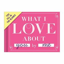 What I Love About You By Me! Fill in the Blanks Book Valentines Day Gift New