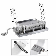 15 Note Hand Crank Music Box Movement + Puncher + 20 Strips Tape For DIY Songs