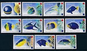 [CU003] Curacao 2011 Marine Life Fish and Flags MNH