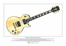 Mick Ronson's Gibson Les Paul Custom Limited Edition Fine Art Print A3 size