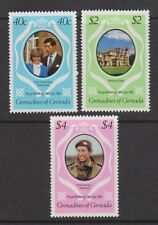 1981 Royal Wedding Charles & Diana MNH Stamp Set Grenada Grenadines SG 444-446