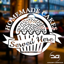 Homemade Cakes Cafe Shop Window Baking Wall Business Vinyl Decal Sticker Sign