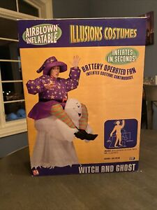 Inflatable Costume Airblown Adult OS Witch Ghost Halloween GEMMY Collectible NEW