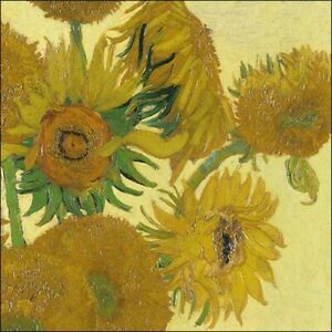 Ambiente Paper Napkins, Pack of 20, 3-ply Lunch Size Sunflowers Van Gogh