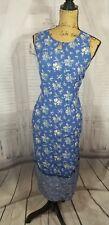 April Cornell Spring Dress Prairie sz S trading Vintage sleeveless blue floral