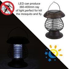 Led Solar Garden Bug Zapper Mosquito Killer Lamp UV Lantern Yard Camping Light B