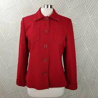 Harve Benard size 12 Wool Button Front Pockets Long Sleeve Blazer Jacket Career