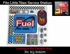 Replacement Decal Sticker fits Little Tikes Cozy Coupe Gas Pump Service Station
