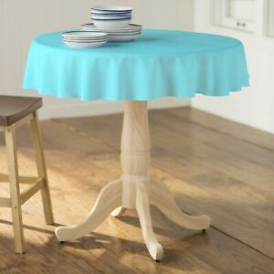 LA Linen Polyester Poplin Round Tablecloth, 58-Inches.  Made in USA