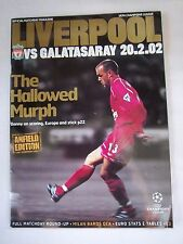 Orig.PRG   Champions League  2001/02   FC LIVERPOOL - GALATASARAY ISTANBUL  !!