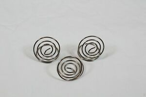 Table Number Card Holders, 18 Pack Wire Shape Table Photo, Name Silver Circle