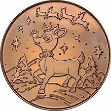 1 oz Copper Round - Rudolph