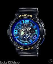 BGA-190GL-1B Black Casio Baby-G Ladies Watches Analog Digital Neon Resin New
