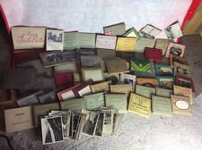 huge collection of antique snapshot booklets and postcards books