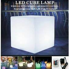 """12"""" LED Light Cube Seat Glow Lamp Garden Patio Swimming Pool Bar Indoor Party"""