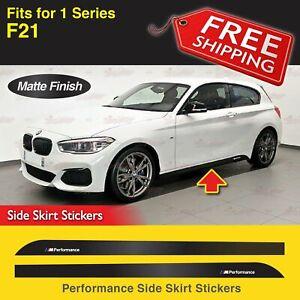 2x M Performance Sport Seitenschweller Abziehbilder Vinyl für BMW F21 1er MATT