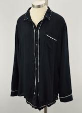 PJ SALVAGE Womens Black Rayon Shirt & Short Studded Pajama Set 2X NWT