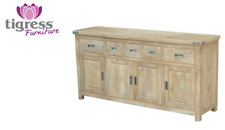 "180cm ""Montego"" Hardwood Timber Buffet Honey Wash Finish with Drawers & Doors"
