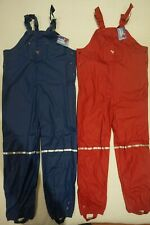 Muddy Puddles Puddleflex Dungarees Bib N Brace Waterproof Trousers Navy Or Red